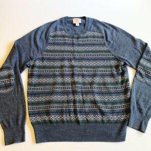 Brooks Brothers Men's Sweater Red Fleece Medium